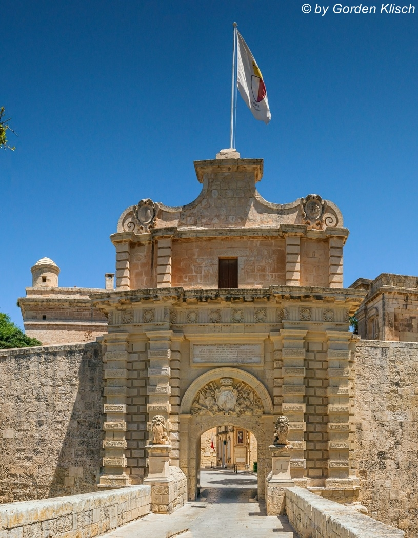 Main Gate Mdina Dive Vision Malta ©Gorden Klisch