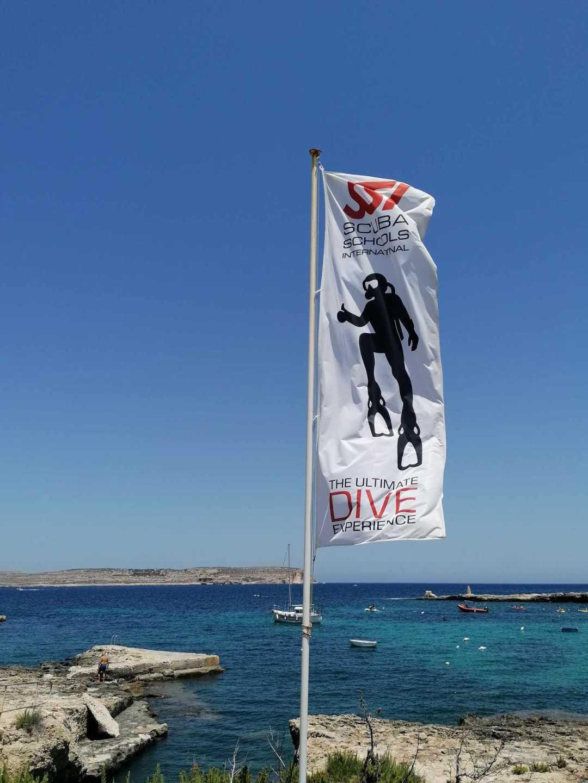 SSI Flag Dive Vision Malta